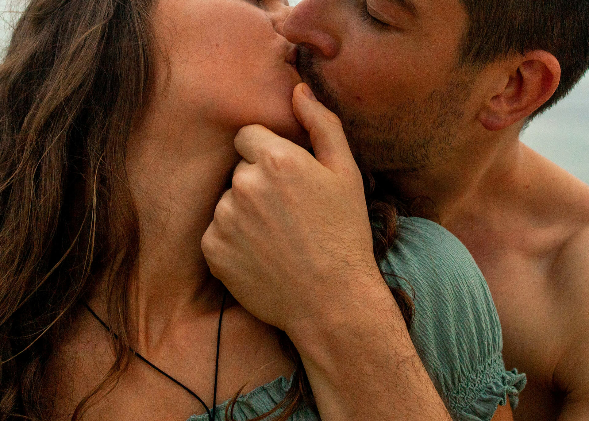 alpha male kissing